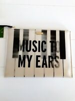 KATE SPADE Piano Keys Music to My Ears Medium Bella Pouch NWT