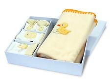 Coffret Cadeau naissance bébé plaid bonnet bavoir chaussons Baby-Bow Canard