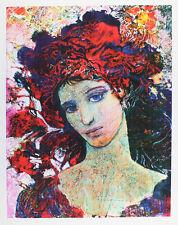 Ernst Fuchs - Mädchen mit roter Haube - handsigniert