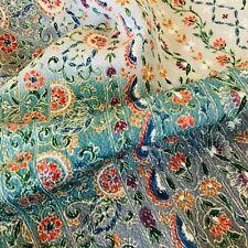 Dried Flower #B 14x62 LONG Vintage Silk Japanese Kimono Fabric AuthenticChirimen