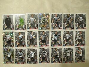 Newcastle United Football Legends Of 2013/2014 x21-Topps Match Attax Cards