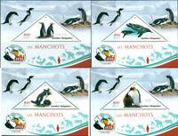 PENGUINS ANIMALS FAUNA CHARLES DARWIN MADAGASCAR 2019 MNH STAMP SET 4 SHEETS
