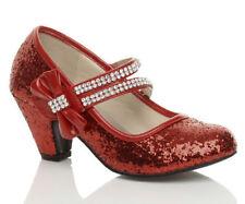 Chaussures babies rouges en synthétique pour fille de 2 à 16 ans