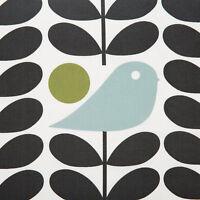 "Orla Kiely Early Bird Stem Granite FQ 20"" 50cm square fabric new lightweight"