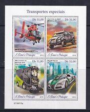 Sao Tome Island - 2019 - Bugatti Veyron - Minaiture Sheet - Police - UMM..
