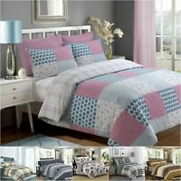 Quilt Duvet Cover Cotton Soft Bedding Set With Free Fitted Sheet & Pillow Shams