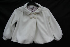 Next Girls Age 5 Height 110cm  Tulip Shaped Cream Fleecy Lined Polyester Jacket