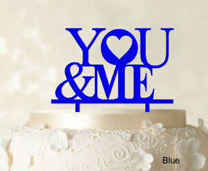 """Personalized """"You And Me"""" Wedding Cake Topper Cake Decoration Color-TAg"""