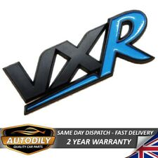 VXR Badge Black & Blue Corsa D Astra H Boot Tailgate Opel Vauxhall Non Chrome