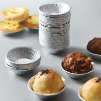100* Disposable Aluminum Foil Tart Pan Mini Pot Pie Tart Bake Plate Tin Pan Mold