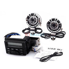 Audio FM Radio MP3 iPod Stereo Speakers Sound System Motorcycle Bike ATV UTV