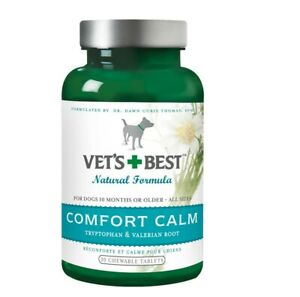Vet's Best Natural Formula Comfort Calm Valerian Root Dog Chewable Tablets 30ct