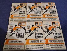 Leeds United Home Programmes 1970-71 Season. YOUR CHOICE