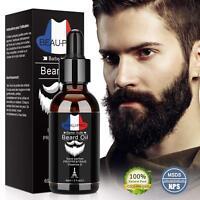 Huile Barbe 100% Bio, Soin de la barbe pour Homme, Huile Hydratante pour Barbe