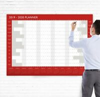 2019 - 2020 Academic Mid Year Student Wall Planner - Red A0 Extra Large Calendar