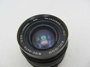 Soligor MC Wide-Auto F2.5 24mm Canon FD Mount Lens For SLR/Mirrorless Cameras