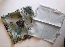 Vintage Scarves with Ruffle set of 2