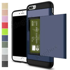 Credit Card Slot Holder Wallet Case Shockproof Back Cover For iPhone & Samsung