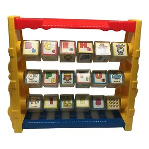 Vintage Spin'n Learn Alphabet Blocks by Shelcore (1987) - Retro Children's Toy