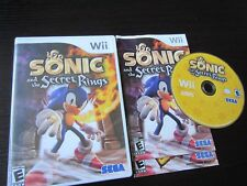 Nintendo Wii:  Sonic and the Secret Rings complete in case & tested