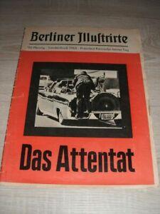 Berliner Illustrierte 1963 Sonderdruck Das Attentat auf Präsident Kennedy
