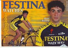 CYCLISME carte cycliste IBAN SASTRE  équipe FESTINA 2001