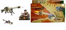KIDS COMBAT SPIN 3 ELECTRONIC TOY ARMY GUN RIFLE WITH SOUNDS LIGHTS VIBRATION