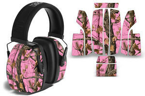 Sticker Wrap Decal  Fits: Howard Leightning L3  Ear Shooting Muffs PINK CAMO