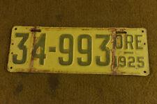 1925 Oregon License Plate Ford Dodge Plymouth Chrysler Chevrolet