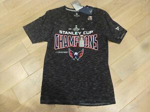Fanatics Washington Capitals 2018 Stanley Cup Champions Gray Locker Room Shirt S