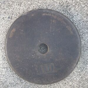 Single -1 VINTAGE hi Hoffman Industries 10 LB Weight Plate for standard Barbell