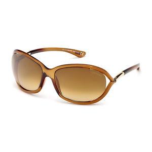 TOM FORD Damen Sonnenbrille JENNIFER FT0008S 602 Transparent Braun NEU mit Etui