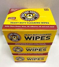 3 Boxes Grease Monkey Wipes Individual Heavy Duty Cleaning Wipes 24-Count Each