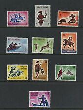 San Marino 1961  #477-86  hunting dogs ducks boars falcons 10v. MNH  K728