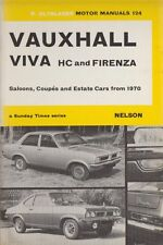 VAUXHALL VIVA HC & FIRENZA 2000 SALOON COUPE & ESTATE 1970 - 1972 REPAIR MANUAL