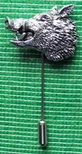 St5 Nuevo Caza Tiro país Peltre Stick Stock tie Pin: gruñendo Wild Boar