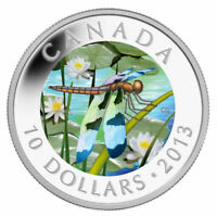 2013 CANADA Dragonfly skimmer $10  99.99% silver - coin only