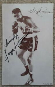 Floyd Patterson Autographed Signed Boxing Exhibit Card World Champion Olympics
