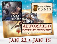 MAGIC MTGA MTG Arena Code FNM Home Promo Pack JAN JANUARY 22 15 INSTANT MAIL