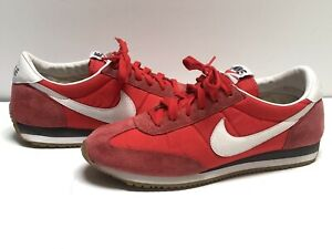 Nike Womens Oceania Racer Red White Gum Waffle Running Shoes Sz 10 307165-600