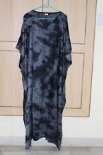Women'S Long Kaftan Plus Size Night Maxi Gown Tie Dye Lounge Sleep wear S-6X