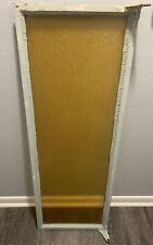 Vintage Amber Textured Glass Window 16 x 48