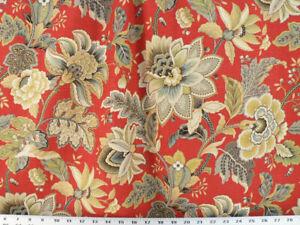 140 cm de ancho Oro Tela 83 elegante de tela de tapicería con estampado floral
