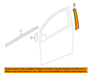 Chevrolet GM OEM 13-15 Spark Front Door-Black Out Tape Right 95181808