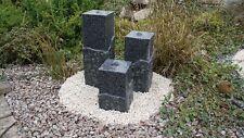 Granit Wasserspiel 3er-Set Shanghai 80/65/45 cm Springbrunnen Gartenbrunnen