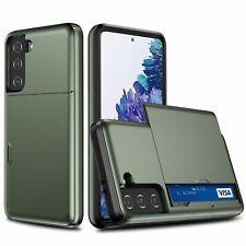 Samsung Galaxy S21 Handyhülle Schutzcase Kartenfach Backcover Bumper Etuis Grün