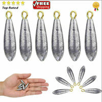 6pcs Fishing Lead Weights Sinkers Shape Casting Fishing Tackle 10g New