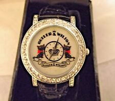 Butler & Wilson black cat Watch black Leather gift for her sparkles