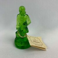 Boyd Art Glass Colonial Man Figurine - Oliver #15 Pistachio