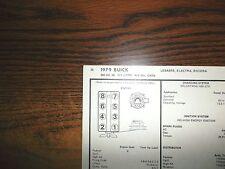 1979 Buick & Riviera EIGHT Series Code-R 350 CI 5.7 Liter V8 4BBL Tune Up Chart
